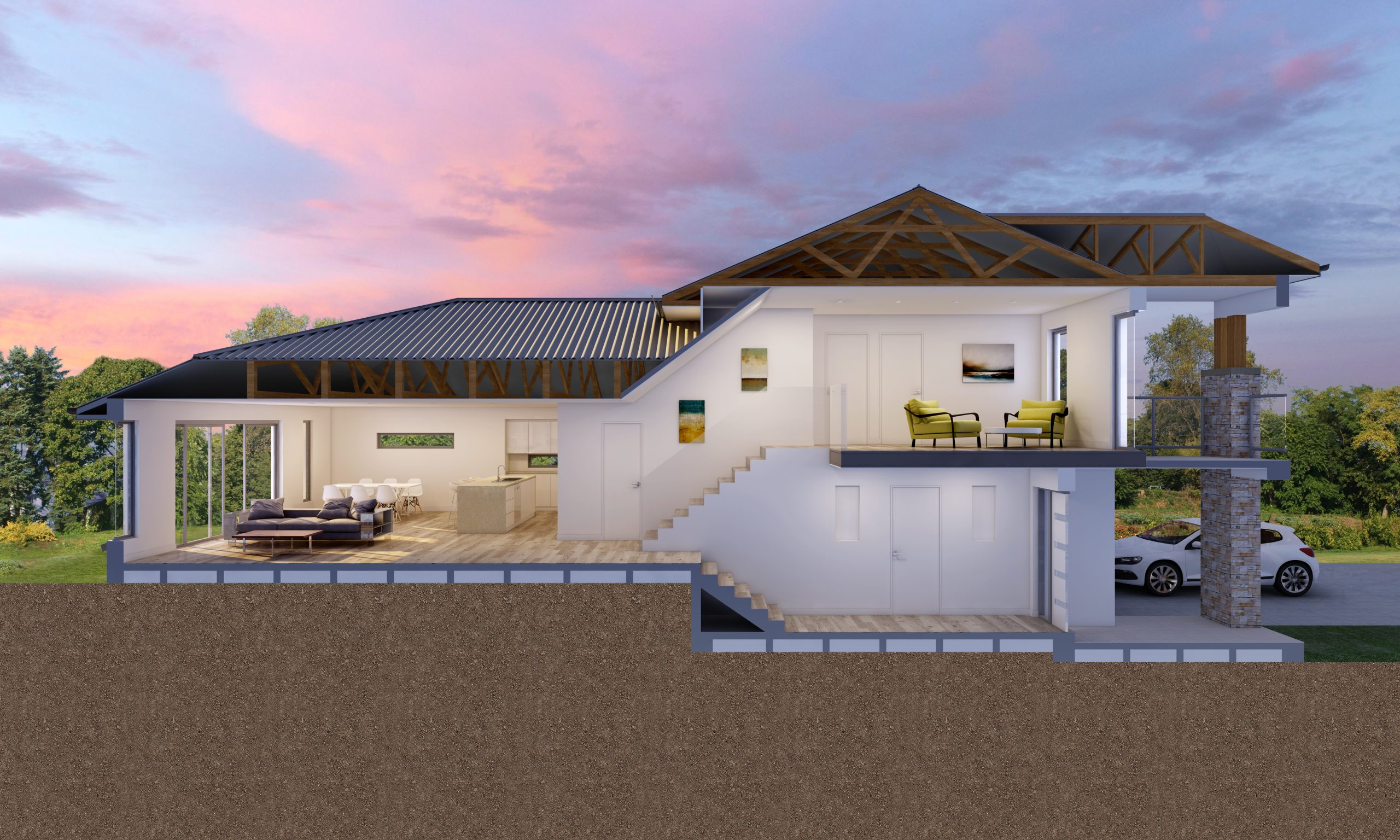 Montgomery-Homes-Riviera-uphill-sloping-design-Benefits-of-a-sloping-block