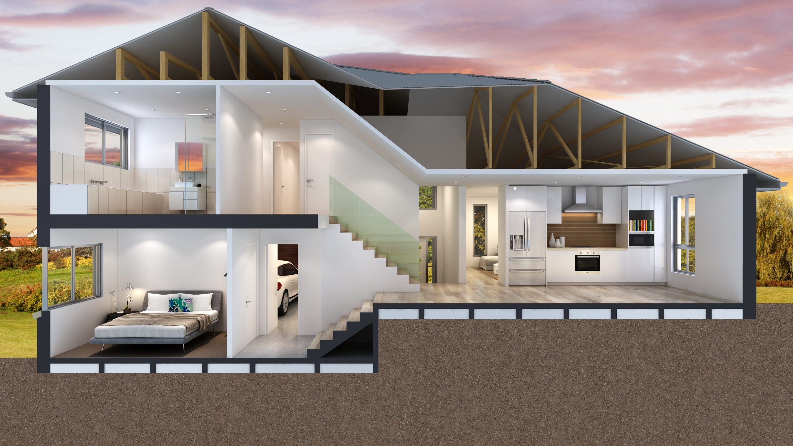 Montgomery-Homes-San-Tropez-sideways-sloping-design-Benefits-of-a-sloping-block