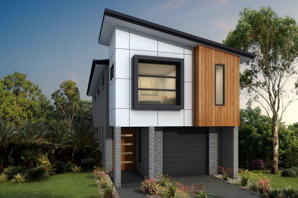 Narrow 8m home design facade