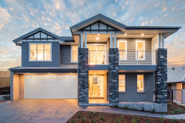 Riviera 1 261 display home at twilight
