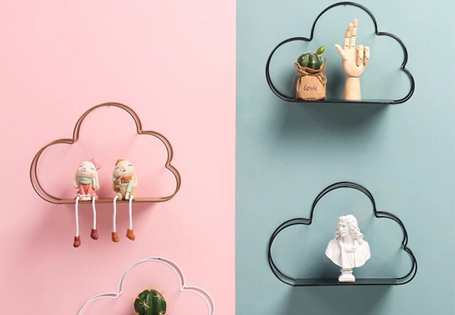 cloud shaped kids room shelves