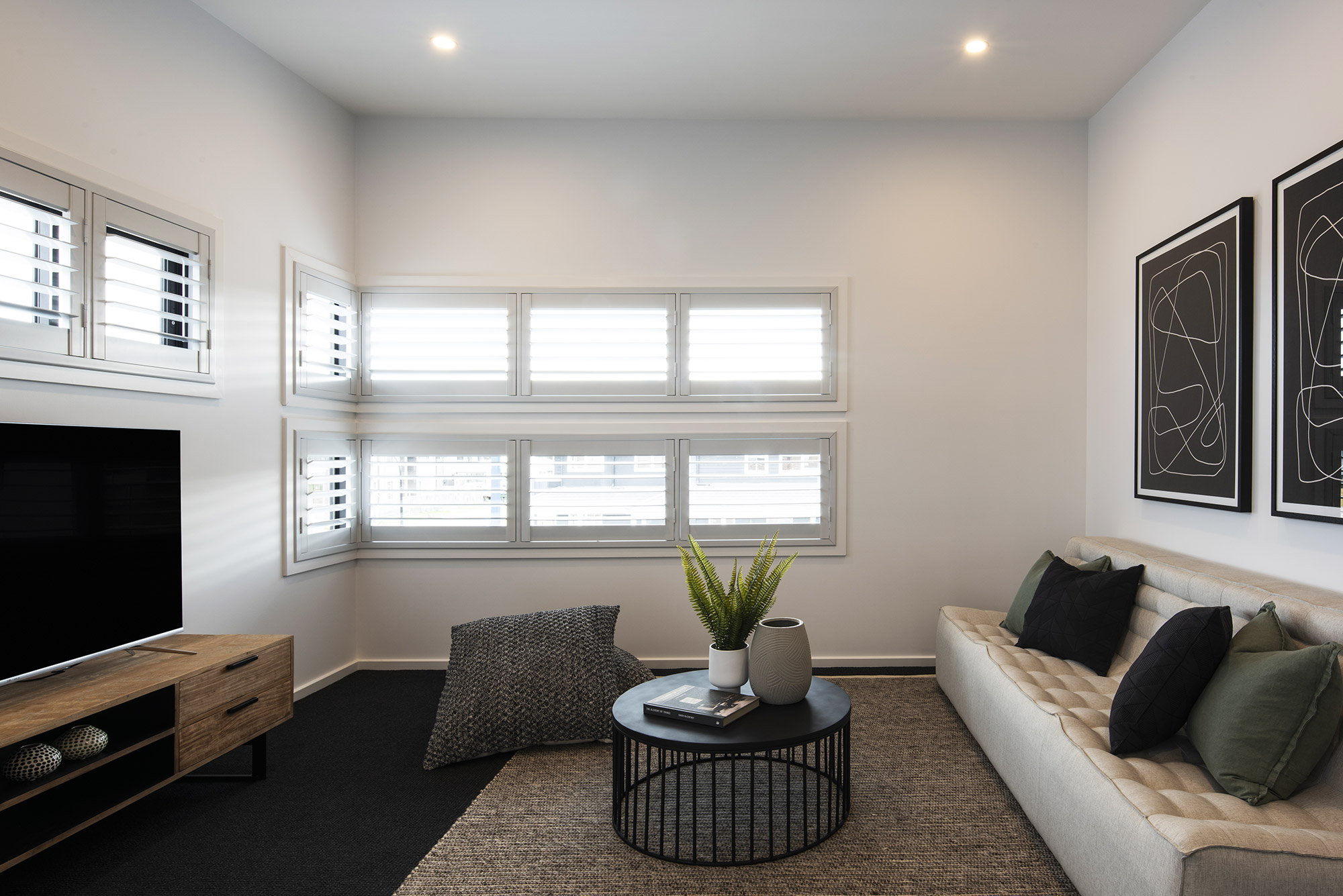Cayman rumpus room with shutter blinds
