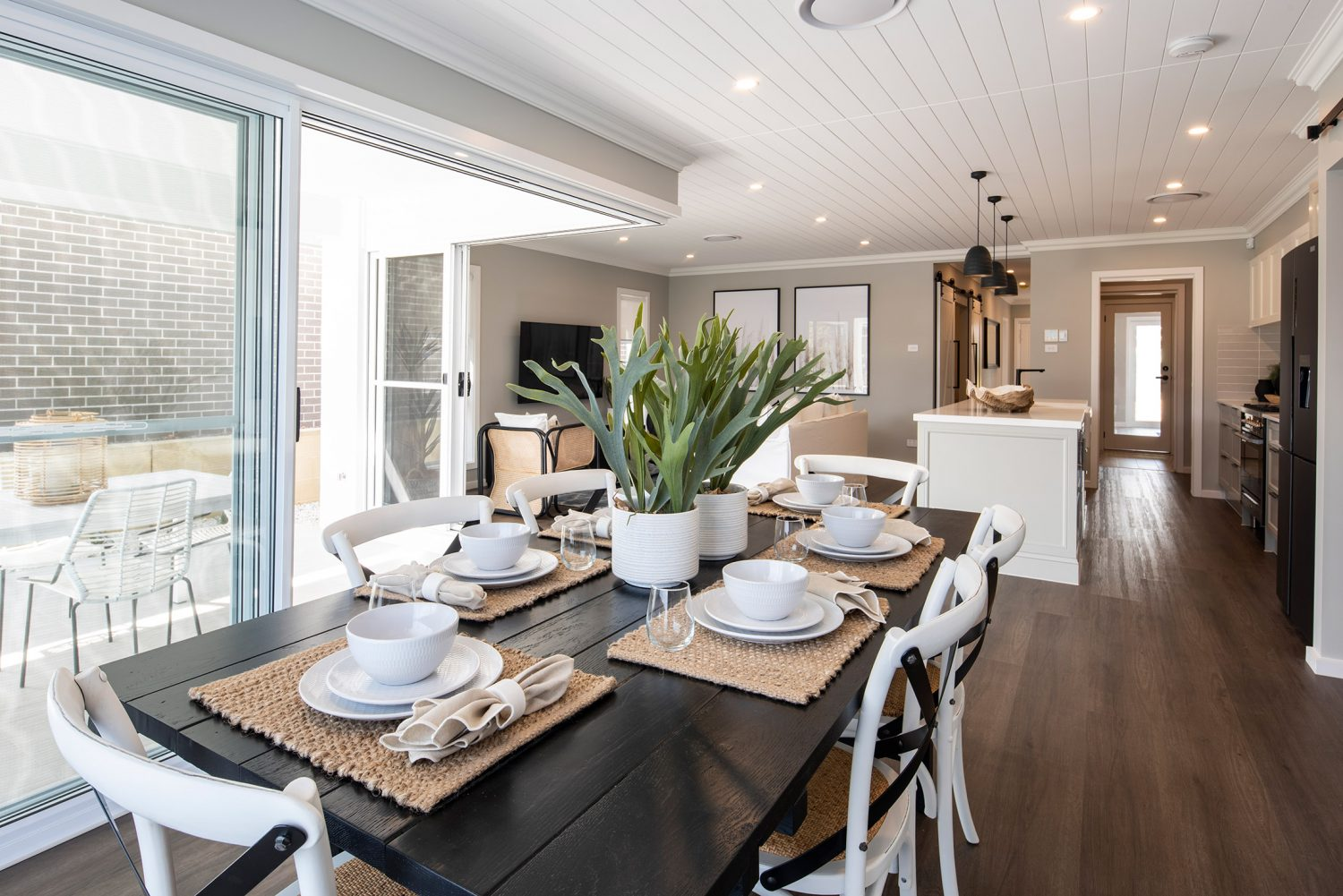 Avoca home design with downlights throughout design
