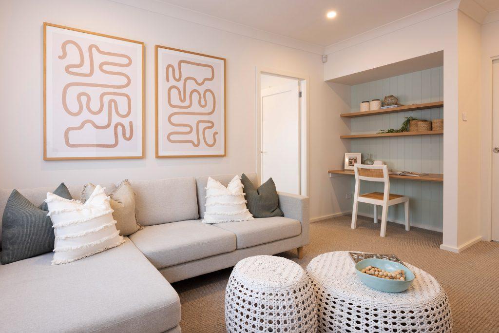Bondi rumpus room with study nook