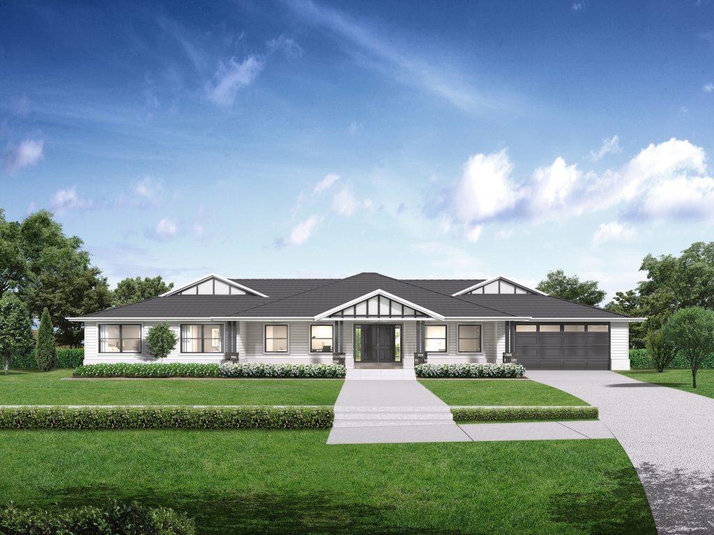 """<u><a href=""""https://www.montgomeryhomes.com.au/home-design/ridgeview-321/"""">Ridgeview 321 Hamptons facade </a></u>"""